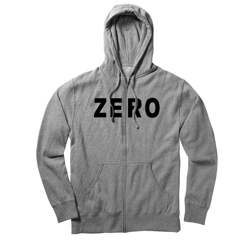 Zero Army Zip Hoodie - Heather Grey - Men's Sweatshirt