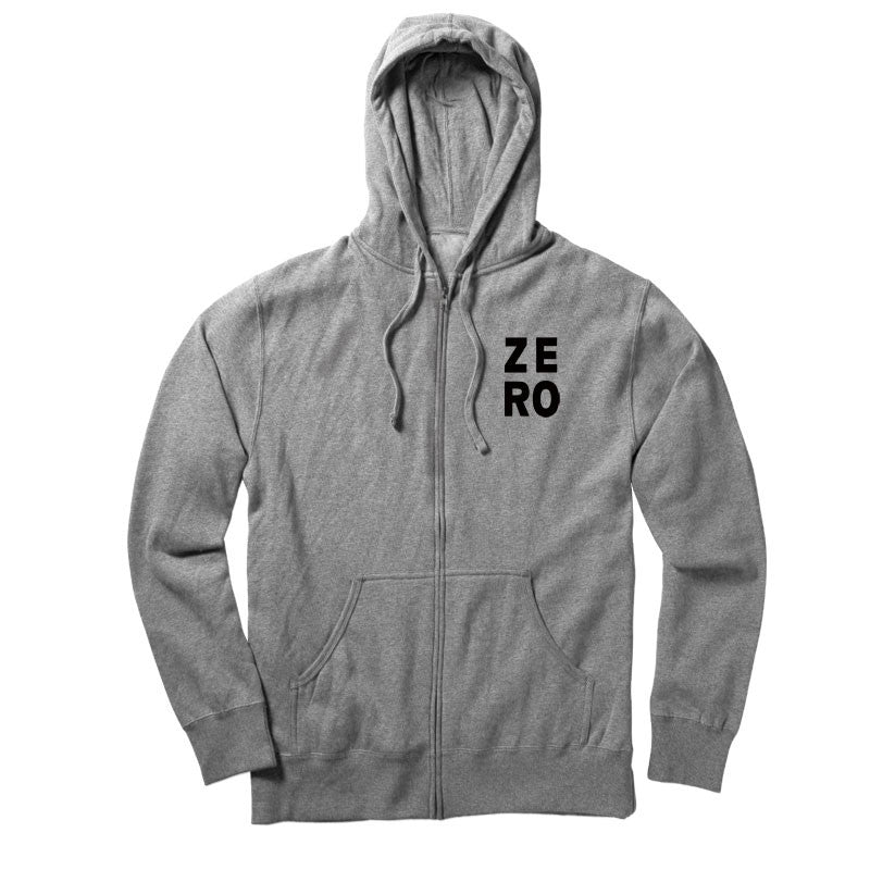 Zero Numero Zip Hoodie - Heather Grey - Men's Sweatshirt