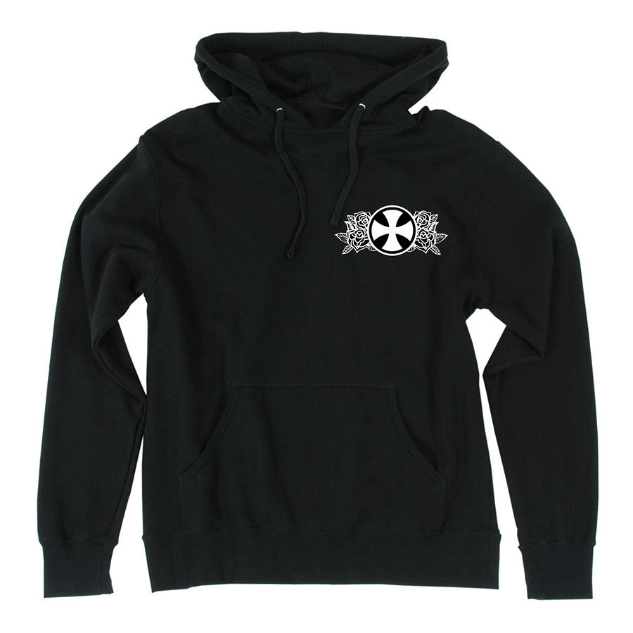 Independent Guzman Temple Pullover Hooded L/S - Black - Men's Sweatshirt