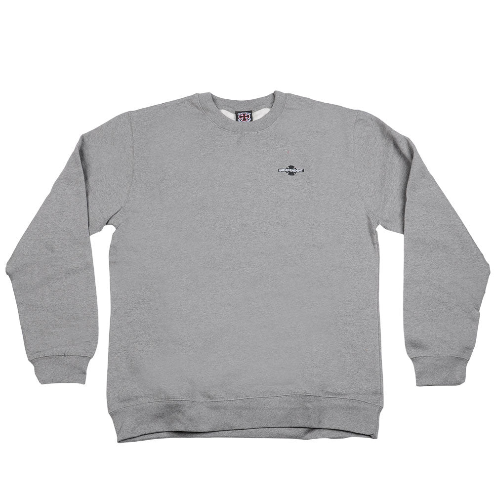 Independent O.G.B.C. Chest Crew Neck L/S - Gunmetal Heather - Men's Sweatshirt