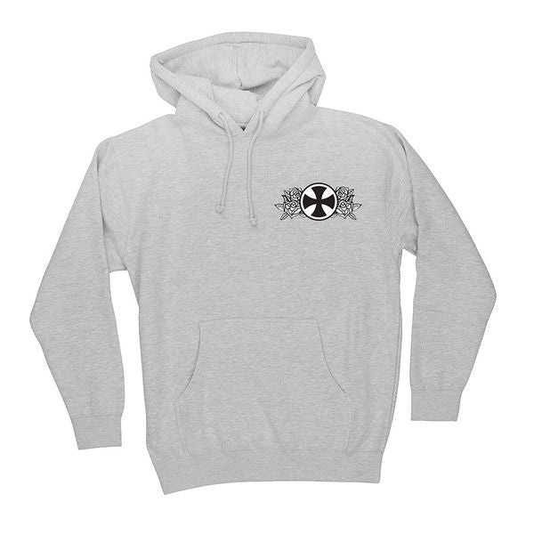 Independent Guzman Temple Pullover Hooded L/S- Grey Heather - Men's Sweatshirt