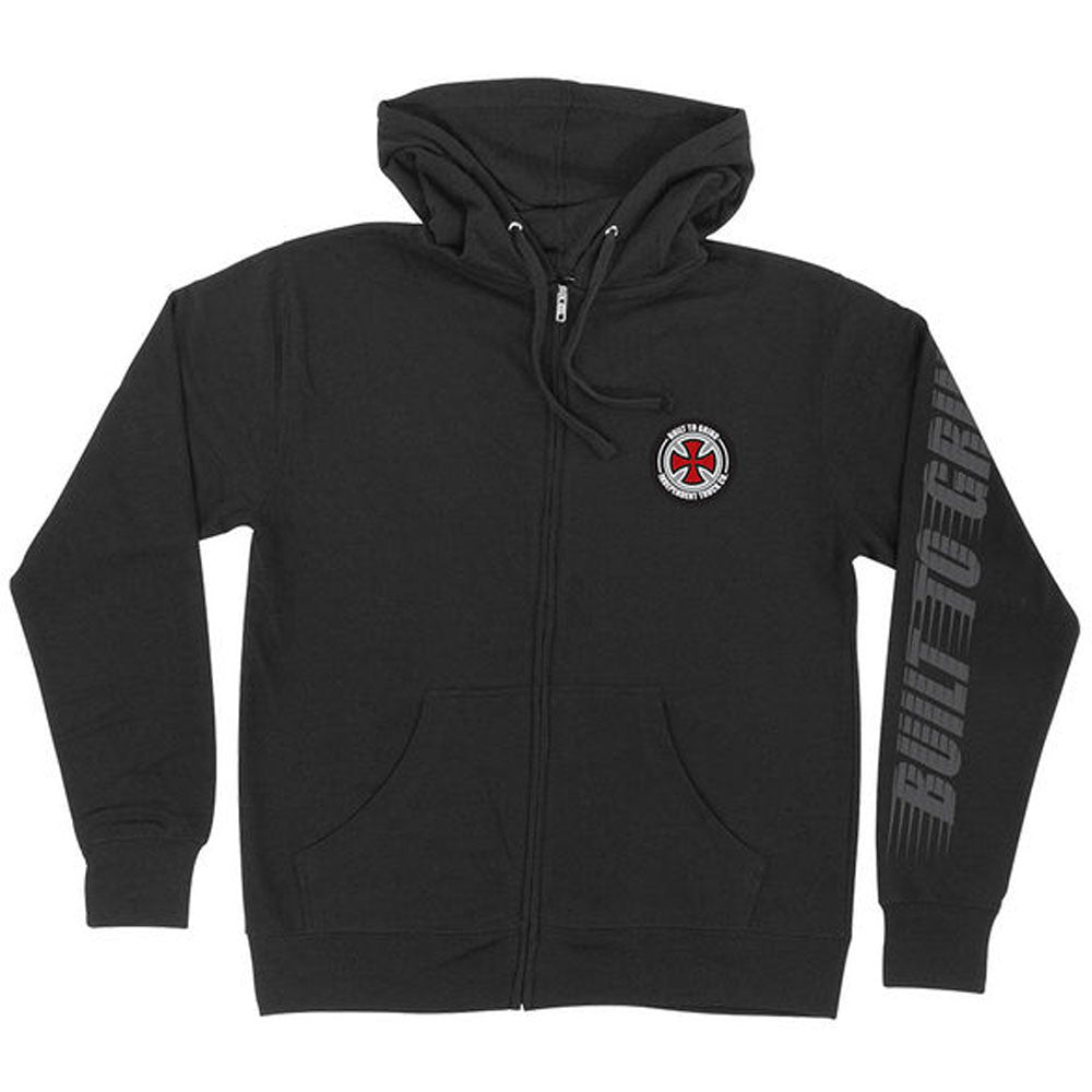 Independent BTG Patch Hooded Zip L/S - Black - Men's Sweatshirt