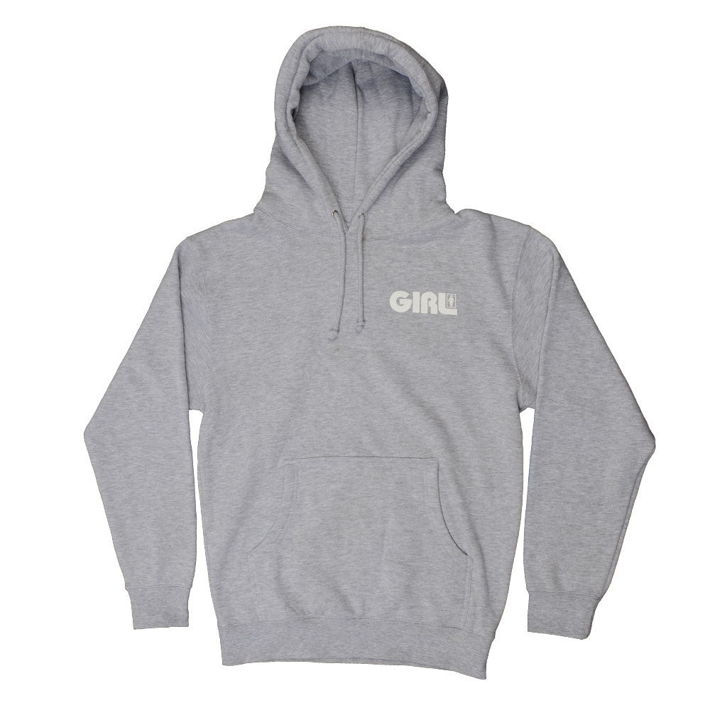 Girl Track Pullover Hoodie - Athletic Heather Grey - Men's Sweatshirt