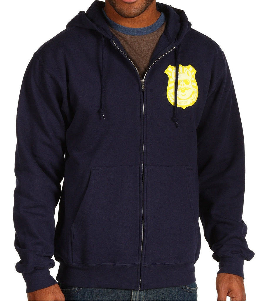 Enjoi Pig Badge Zip Hoodie - Navy - Sweatshirt