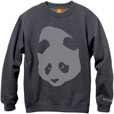 Enjoi Gigantic Face Crew Fleece - Charcoal/Heather - Mens Sweatshirt