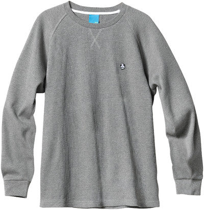 Enjoi Heavy Peter L/S Knit Top - Heather Grey - Men's Sweatshirt
