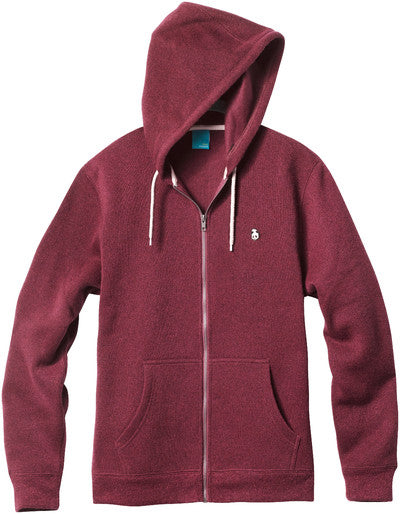 Enjoi Grip And Zip Custom Fleece - Oxblood - Men's Sweatshirt