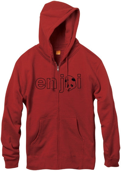 Enjoi Headvetica Zip Hoodie - Cardinal Red - Men's Sweatshirt