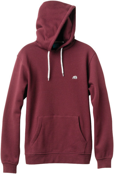 Enjoi Panda Patch Custom Pullover Hoodie - Oxblood - Men's Sweatshirt