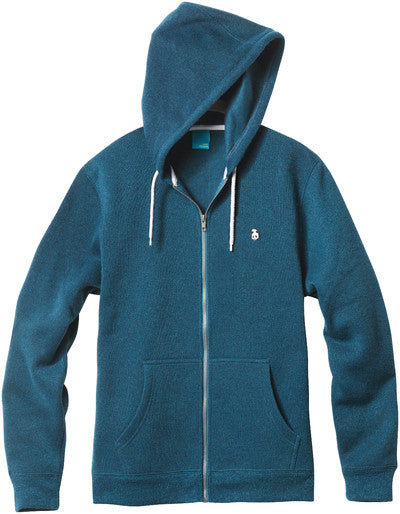 Enjoi Grip N' Zip Custom Fleece - Turquoise Heather - Men's Sweatshirt
