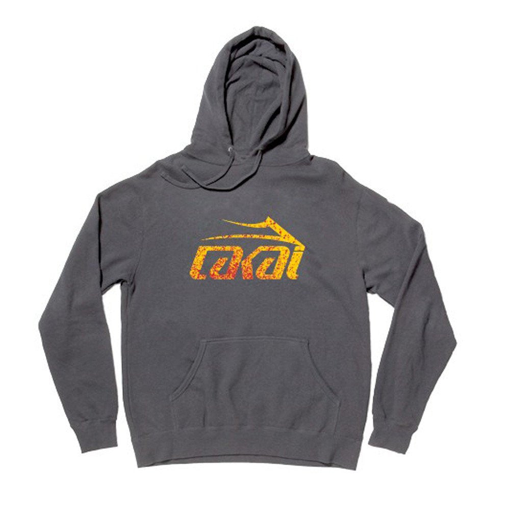 Lakai Splatter P/O Hooded - Charcoal - Men's Sweatshirt