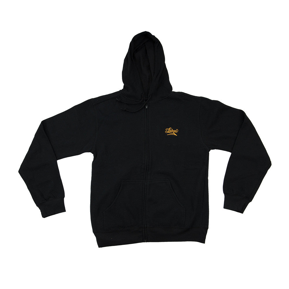 Lakai Estate Zip Up Hooded - Black - Men's Sweatshirt
