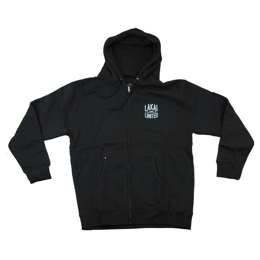 Lakai Court Zip Up Hooded - Black - Men's Sweatshirt