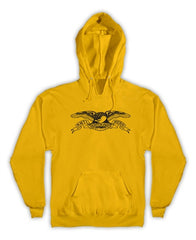 Anti-Hero Basic Eagle Pullover Hoodie - Gold/Black - Men's Sweatshirt