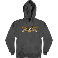 Anti-Hero Eagle Pullover Hoodie - Charcoal Heather - Men's Sweatshirt