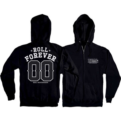 Real Roll 00 Forever Hoodie - Black/White - Men's Sweatshirt
