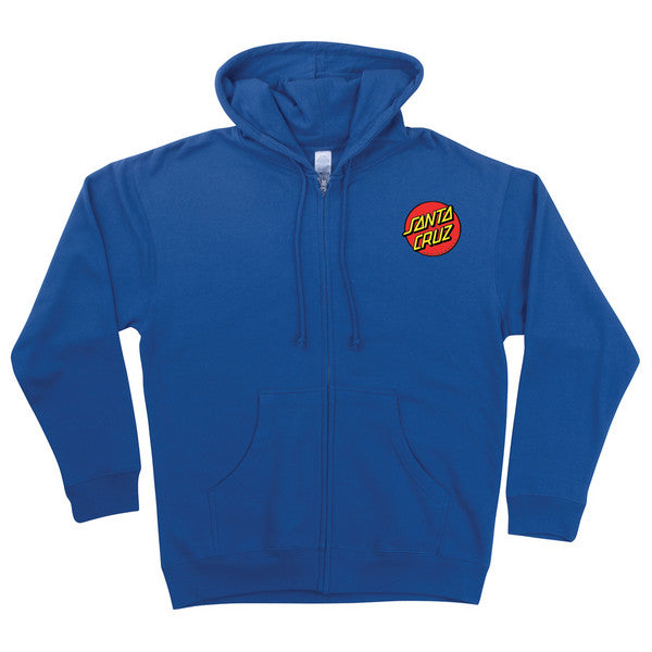 Santa Cruz Classic Dot Hooded Zip L/S - Royal Blue - Mens Sweatshirt