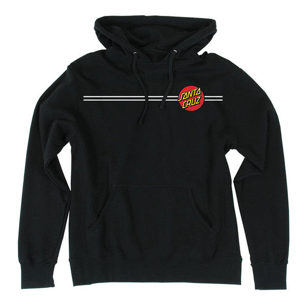 Santa Cruz Classic Dot Pullover Hooded L/S - Black - Mens Sweatshirt