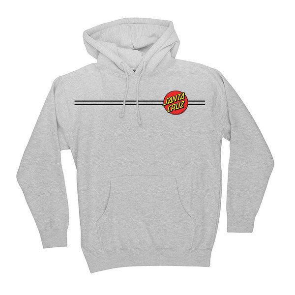 Santa Cruz Classic Dot Pullover Hooded L/S - Grey Heather - Mens Sweatshirt