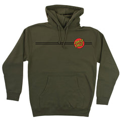 Santa Cruz Classic Dot Pullover Hooded L/S - Army Green - Mens Sweatshirt