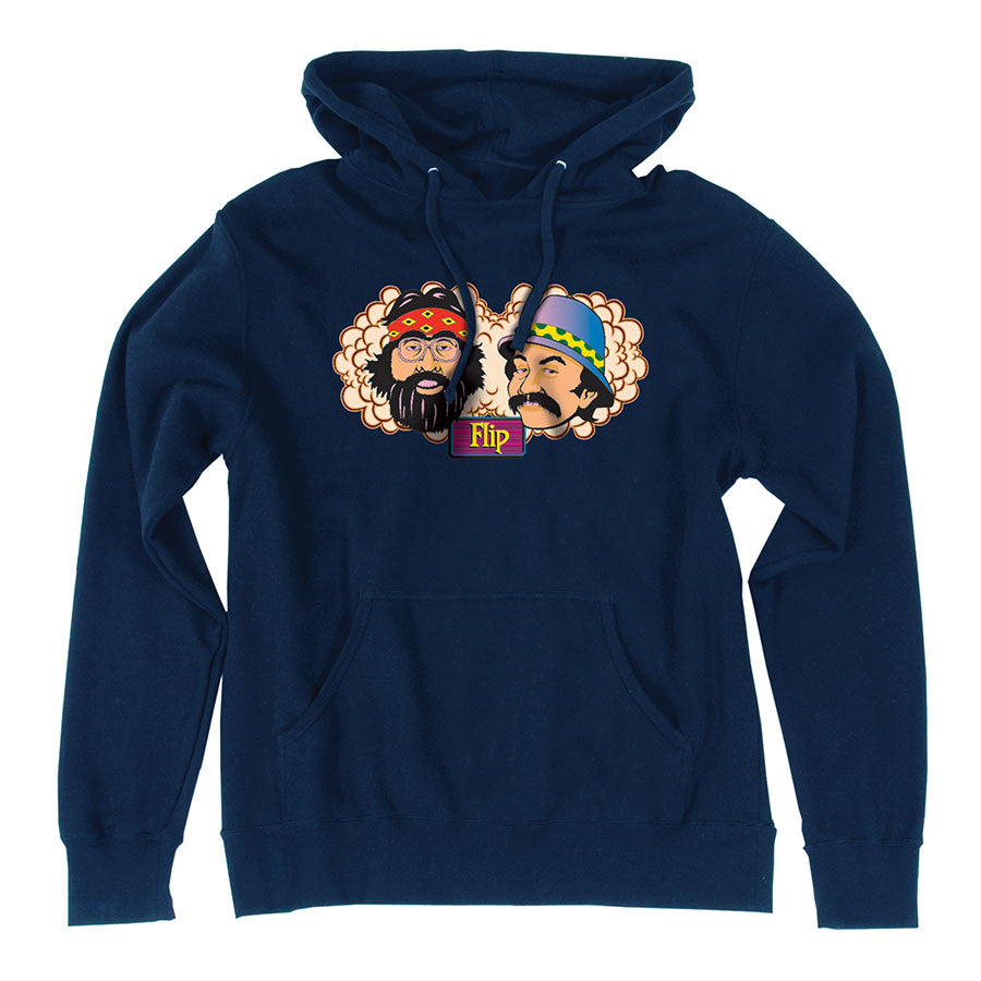 Flip Cheech and Chong Pullover Hooded L/S - Navy - Mens Sweatshirt