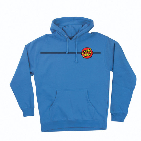 Santa Cruz Classic Dot Pullover Hooded L/S - Collegiate Blue - Mens Sweatshirt