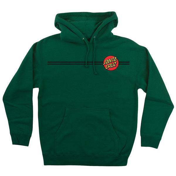 Santa Cruz Classic Dot Pullover Hooded L/S - Dark Green - Men's Sweatshirt