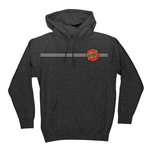 Santa Cruz Classic Dot Pullover Hooded L/S - Charcoal Heather - Men's Sweatshirt