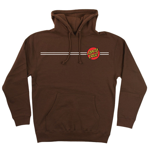 Santa Cruz Classic Dot Pullover Hooded L/S - Cocoa - Men's Sweatshirt