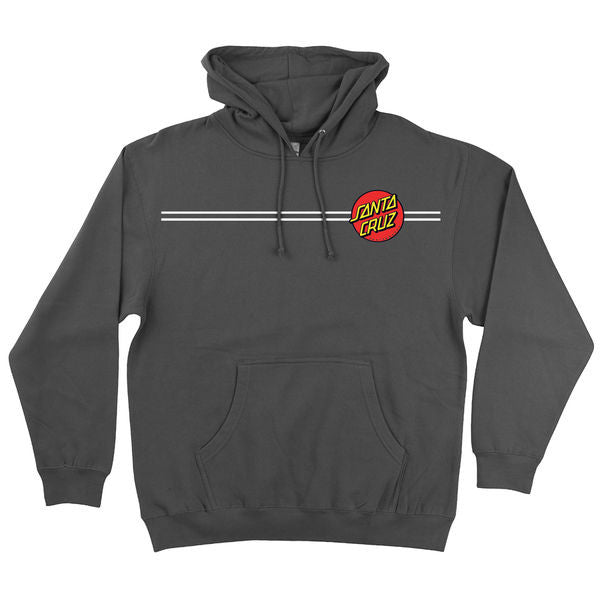 Santa Cruz Classic Dot Pullover Hooded L/S - Charcoal - Men's Sweatshirt