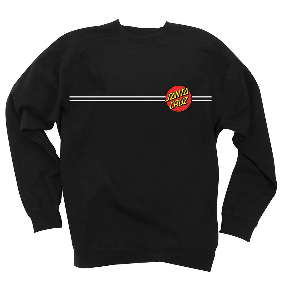 Santa Cruz Classic Dot Crew Neck L/S - Black - Men's Sweatshirt