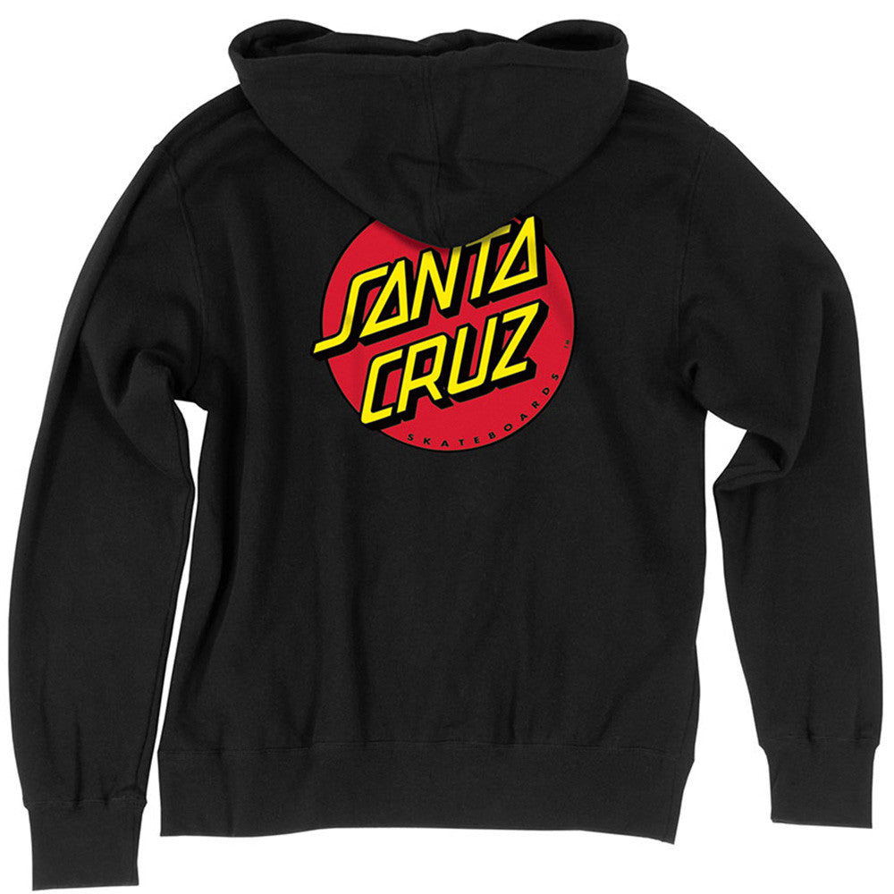 Santa Cruz Classic Dot Pullover Hooded L/S - Black - Youth Sweatshirt