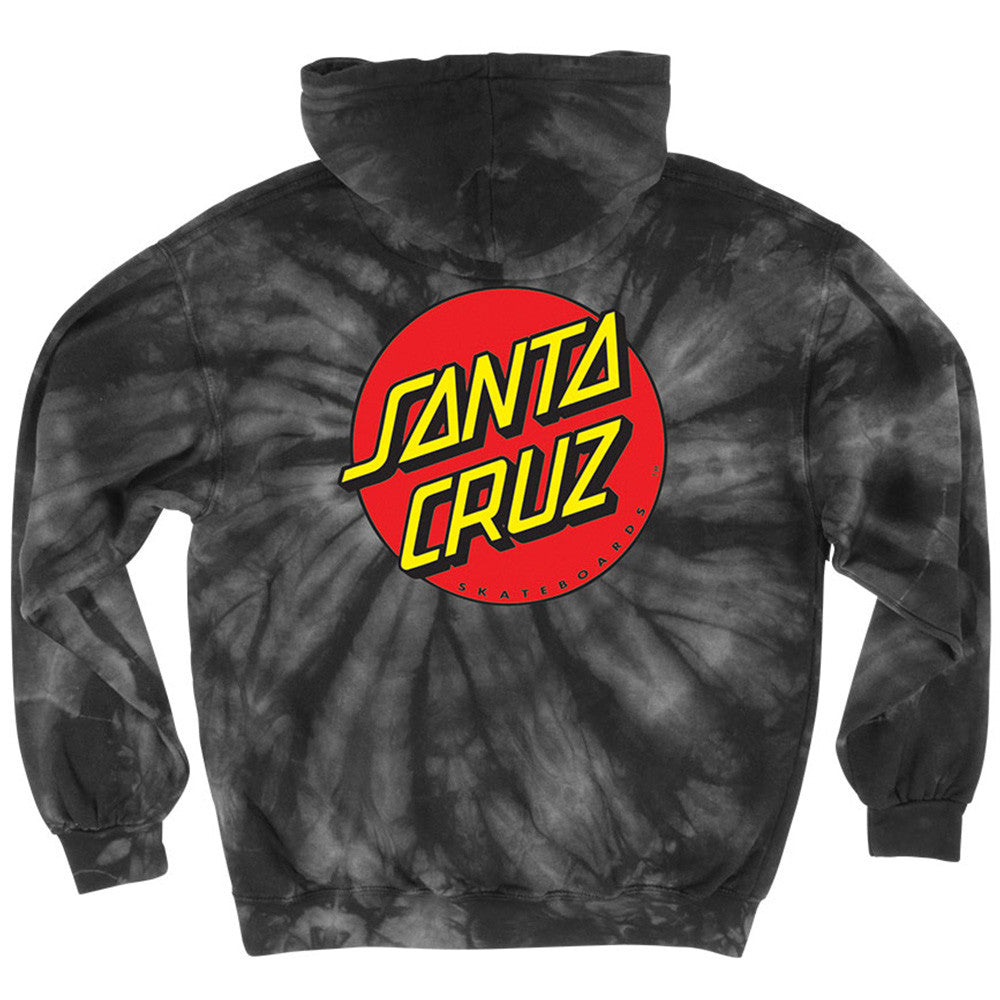 Santa Cruz Classic Dot Pullover Hooded L/S - Spider Black - Men's Sweatshirt