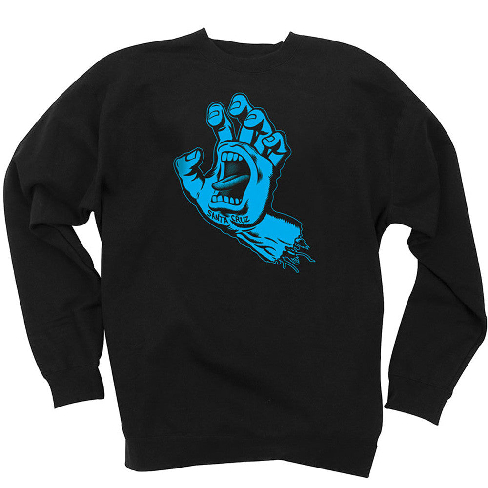 Santa Cruz Hand Crew Neck L/S - Black - Youth Sweatshirt