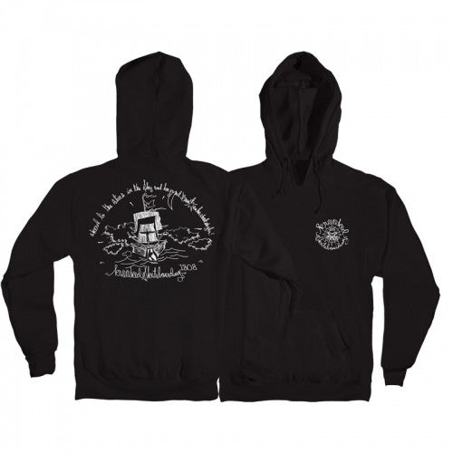Krooked 1808 Pullover Hoodie - Black/White - Men's Sweatshirt