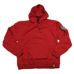 Krooked Exkalibur Hooded Pullover - Cardinal Red - Men's Sweatshirt