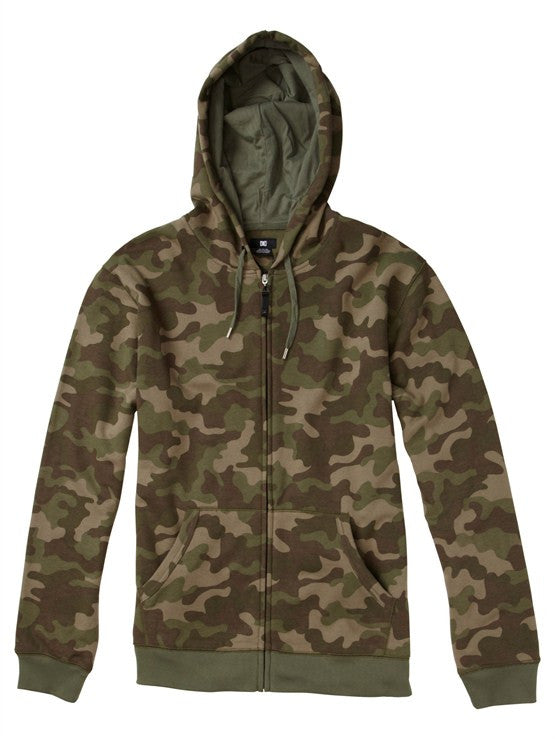 DC Print Party Full Zip Hoodie - Woodland Camo - Men's Sweatshirt
