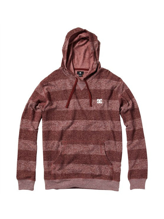 DC Rebel Stripe Hoodie - Marooned - Men's Sweatshirt