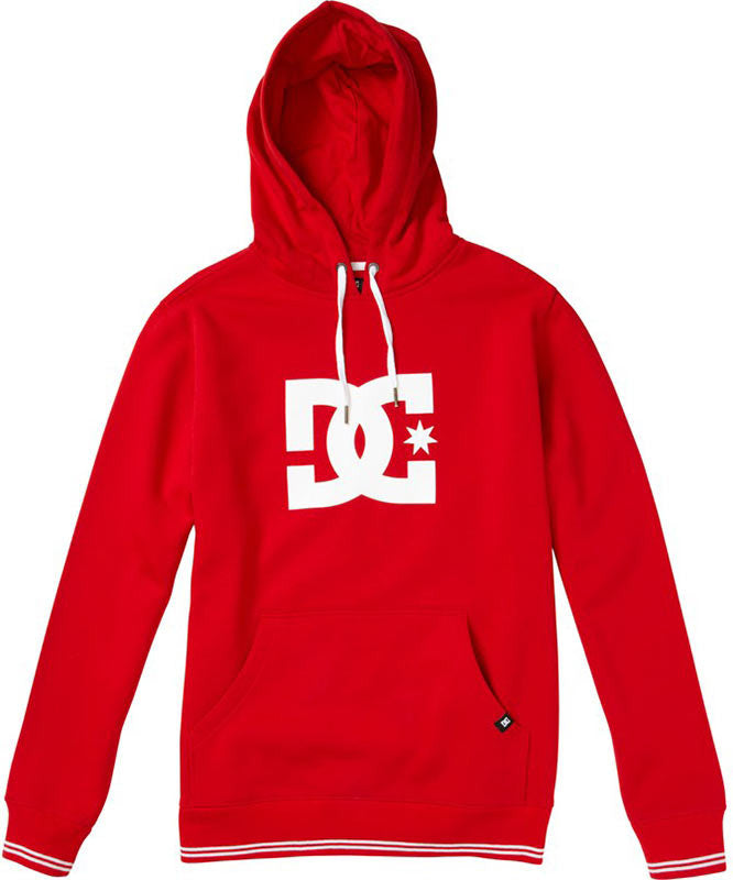 DC All Star Pullover Hoodie - Athletic Red - Men's Sweatshirt
