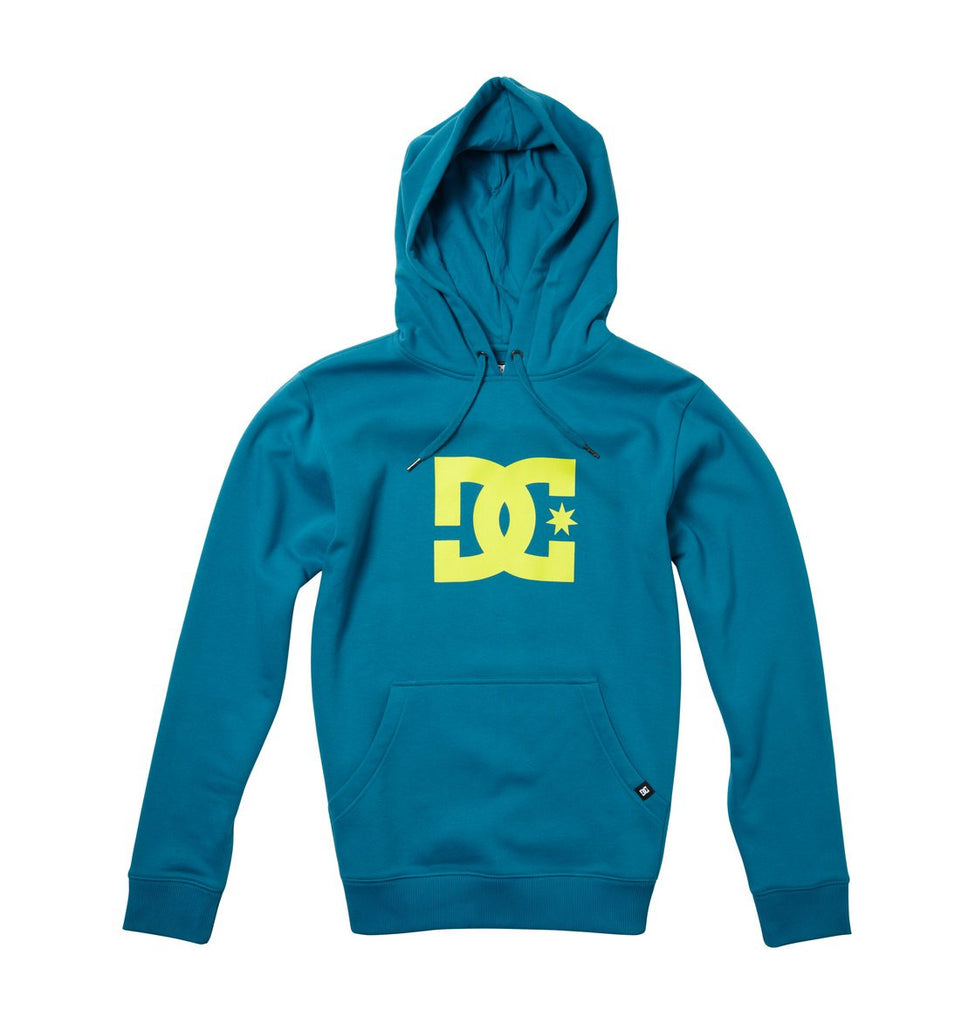 DC Star 1 Pullover Hoodie - Blue/Green/Green - Men's Sweatshirt