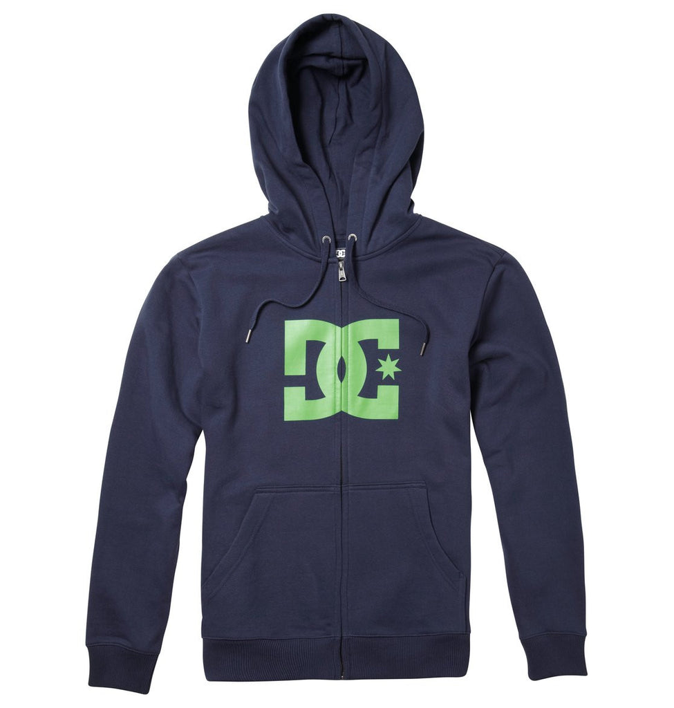 DC Star 1 Zip Hoodie - Blue/Blue/Green - Men's Sweatshirt