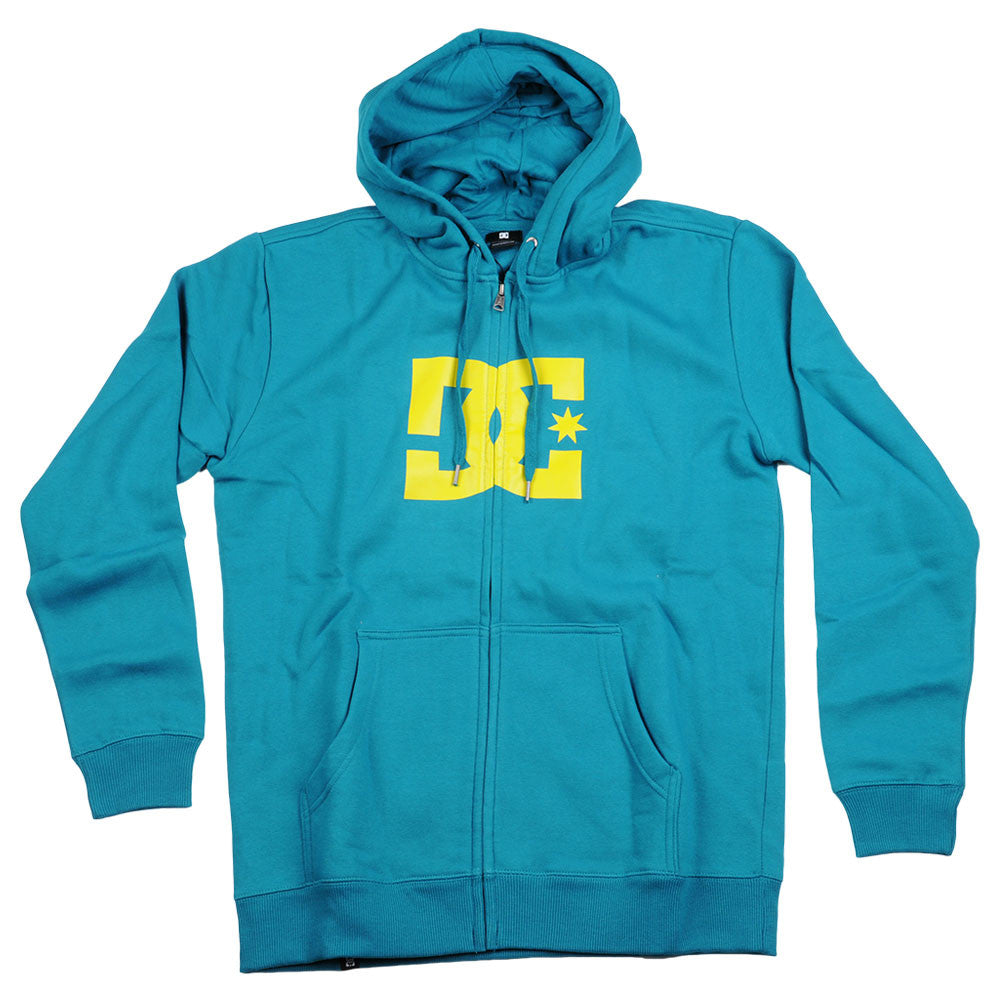 DC Star 1 Zip Hoodie - Blue/Green/Green - Men's Sweatshirt