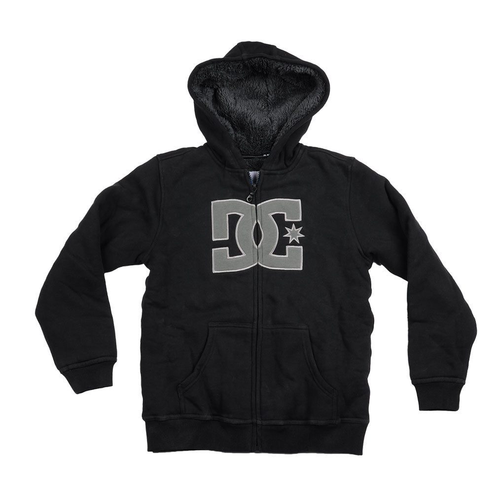 DC Borden By Zip-Up Hooded - Black/Grey - Men's Sweatshirt