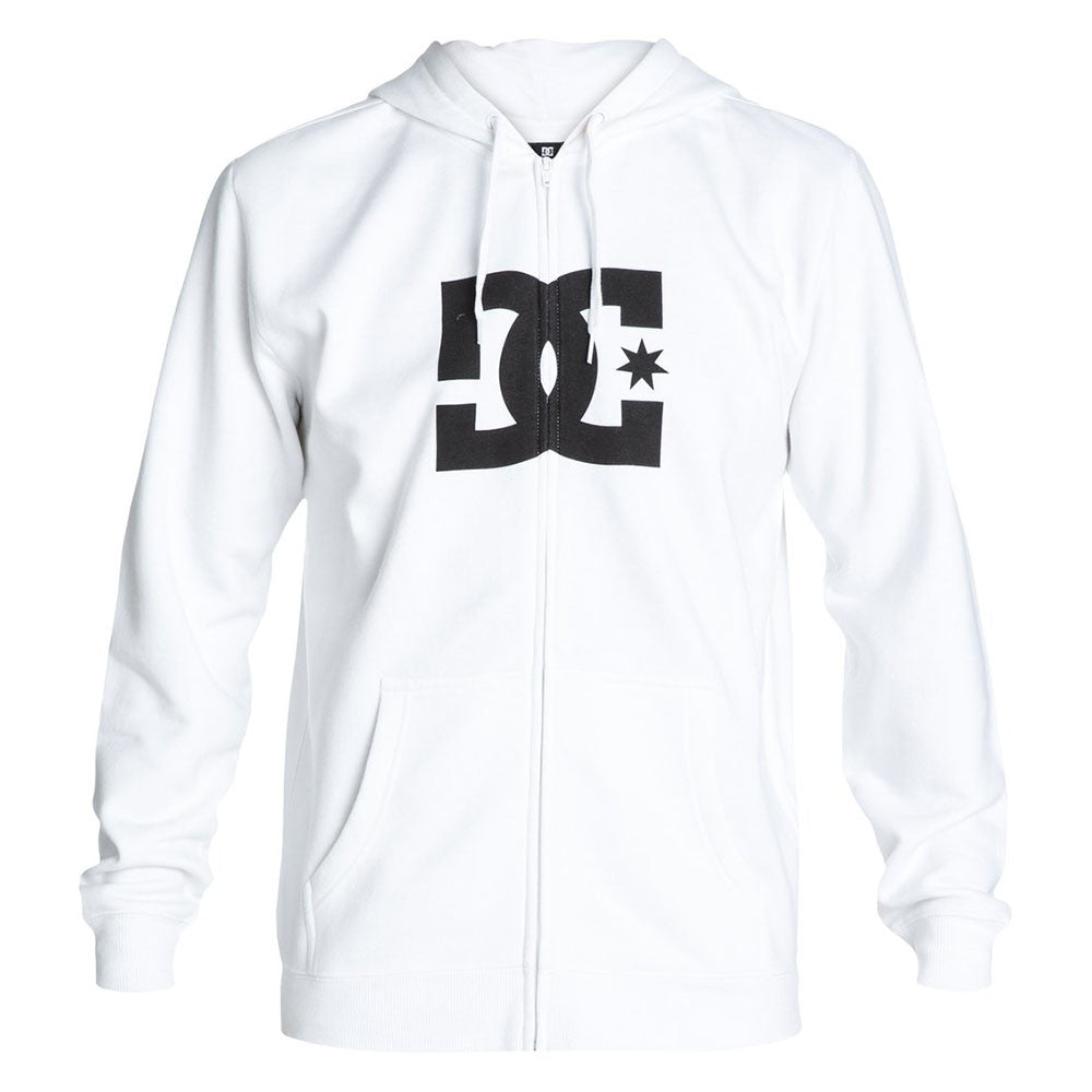 DC Star ZH Zip Up Hooded - White WHT - Men's Sweatshirt