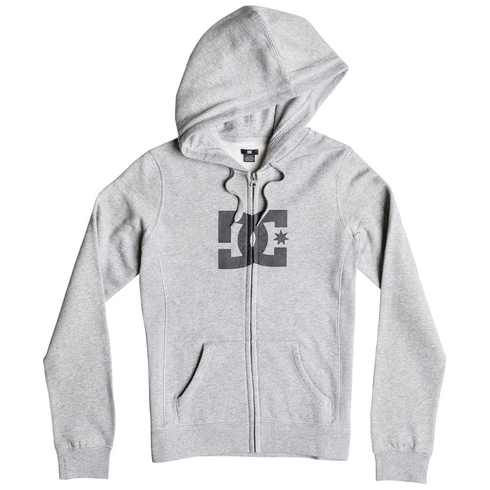 DC Star E ZH Zip Up Hooded - Steel Grey KNFH - Women's Sweatshirt