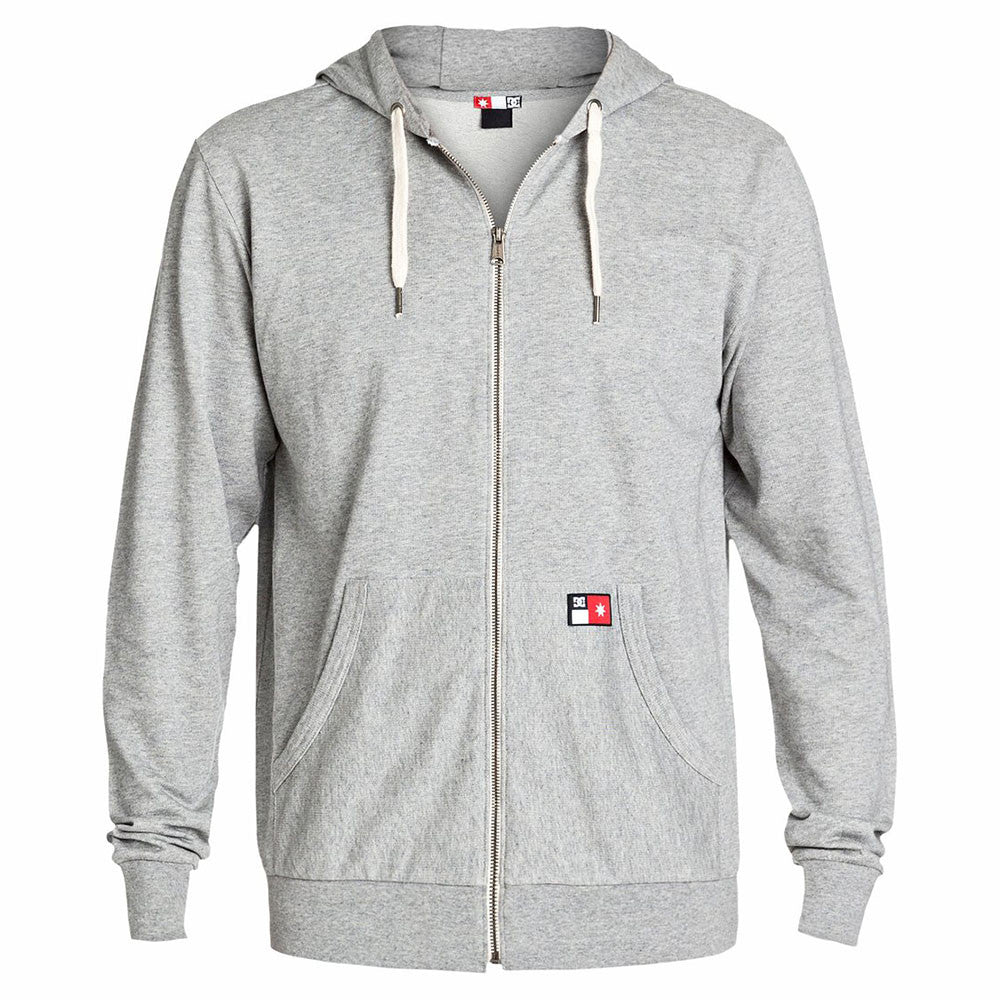 DC Core Zip Up Hooded - Steel Grey KNFH - Men's Sweatshirt