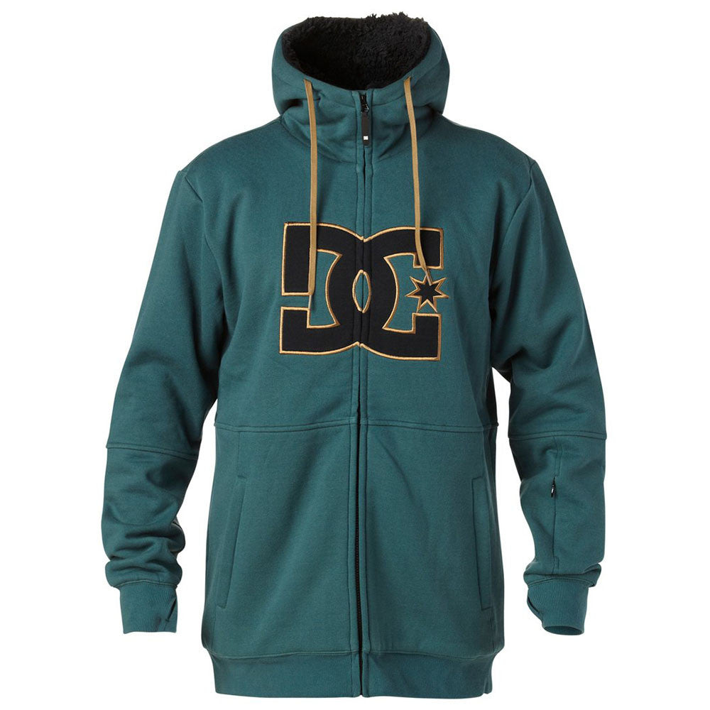 DC Marquee Zip Up Hooded - Jasper GRE0 - Men's Sweatshirt
