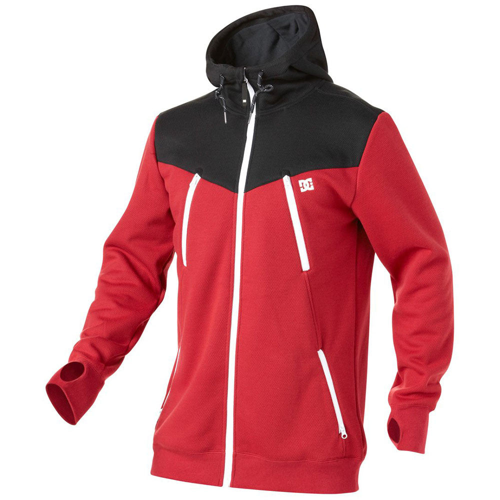DC Torstein Zip Up - Rio Red RRK0 - Men's Sweatshirt