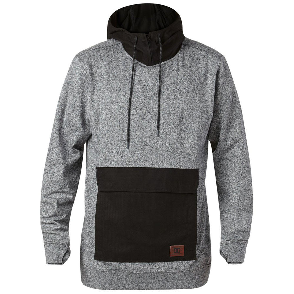 DC Overhaul P/O Hooded - Caviar KVK0 - Men's Sweatshirt