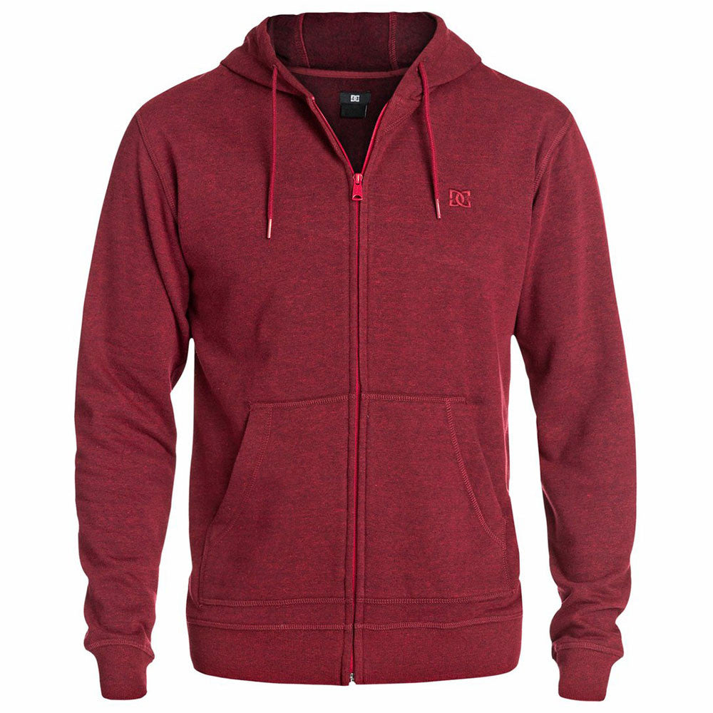 DC Rebel ZH 2 Zip Up Hooded - Jester Red RRL0 - Men's Sweatshirt